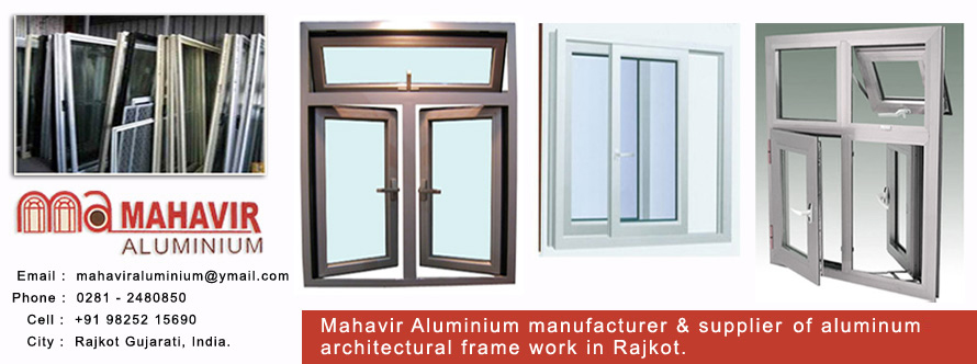 Mahavir Aluminium manufacturer & supplier  of aluminum Glass Doors