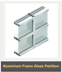 Aluminium Aluminium Frame Glass Section