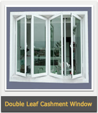 Aluminium Frame Double Leaf Cashment Window