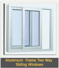 Aluminium  Frame Two Way Sliding Windows